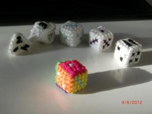 Some more of my dice (not all).  The 8-sider was unfortunately not finished with its numbering (It is now though).